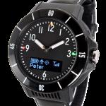 GPS klokke med trygghetsalarm, sportsdesign