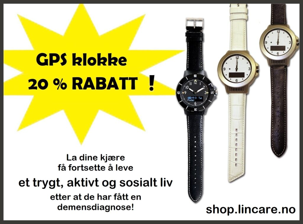 Rabatt på LinCare GPS klokke med trygghetsalarm